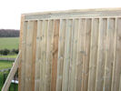 A privacy screen under construction which will give your garden added privacy